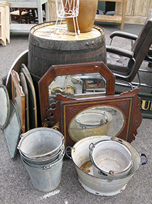 Visual Merchandising Prop Finder - buckets-barrels-mirrors