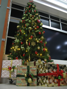 Christmas Visual Merchandising-TV-AM-Studio.-Xmas-tree-1